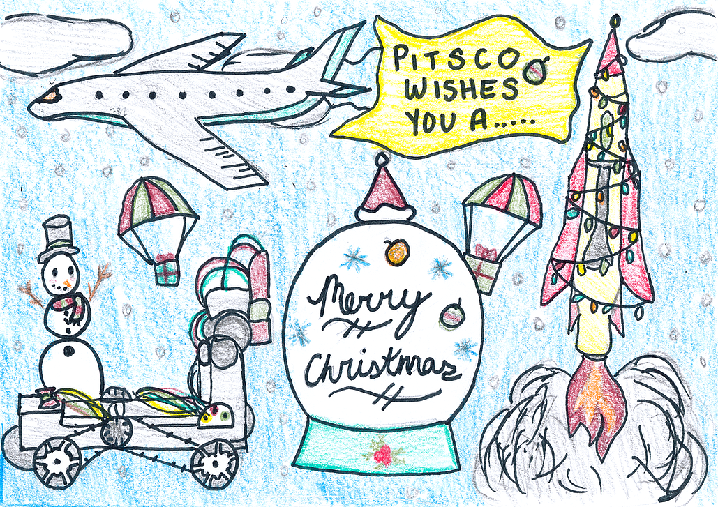 Pitsco Education Christmas Card 2020 2019 Christmas Card Contest Winners