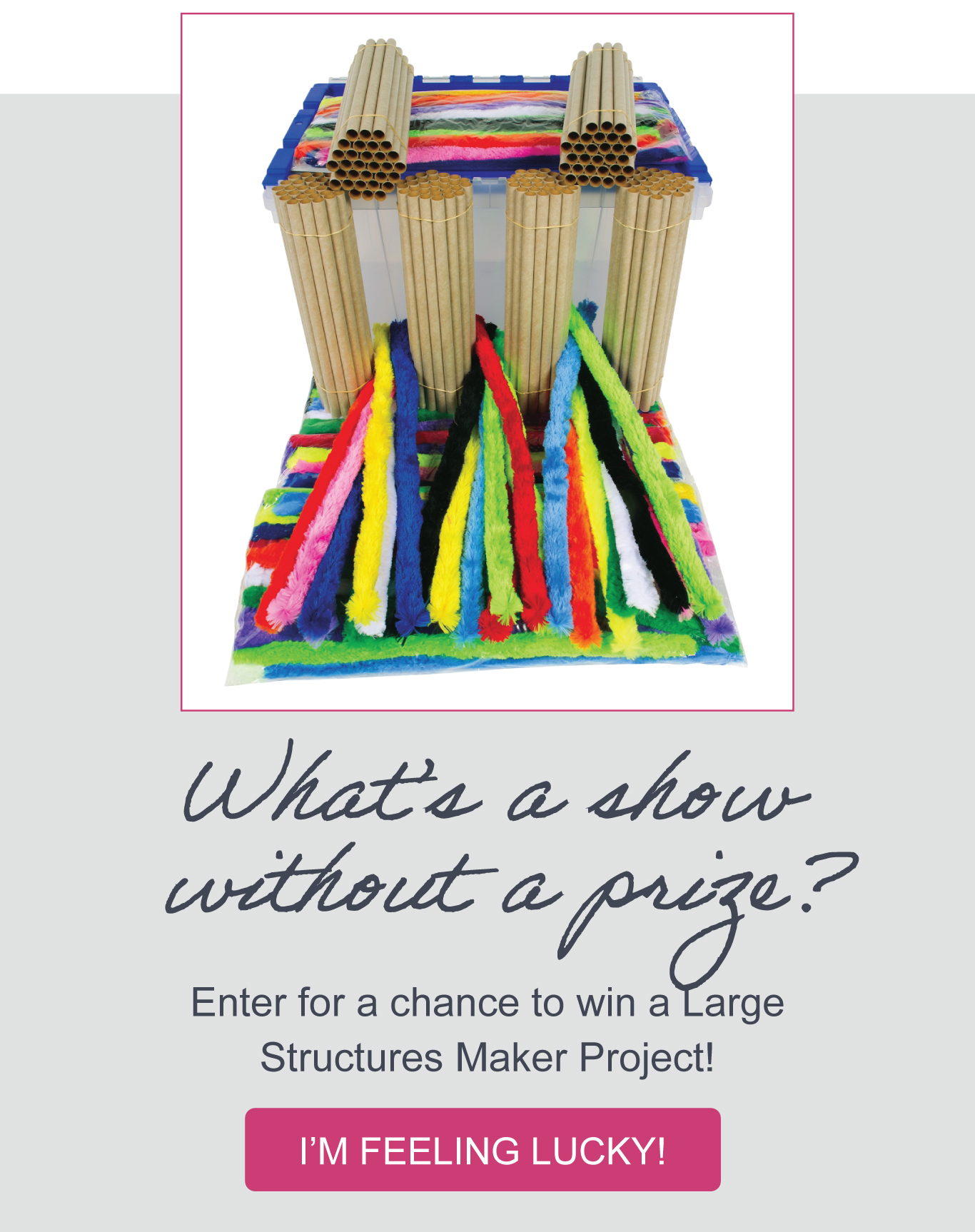 What's a show without a prize? Enter for a chance to win a Large Structure Maker Project.